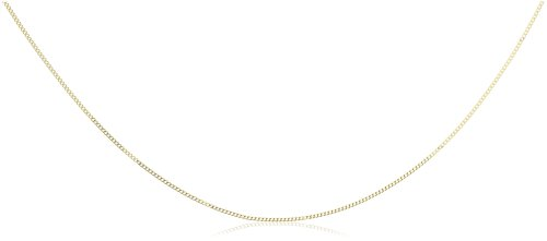 Plain Necklace, 9ct Yellow Gold Chain, 40cm Length,