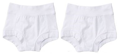 "Oops! Undies Waterproof Bamboo Underwear White Training Pants 2 Pack (Ages 6-7 Fits 20.5"" waist) - 1"