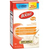 Nestle Boost Plus Very Vanilla 8oz Brikpaks 27/Case