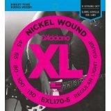 D'Addario EXL170-5x2  Electric Bass Guitar Strings, XL Nicke