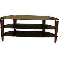Cheap Techcraft 57IN Tv Stand Spiral Wood Glass Shelf (TS57W)