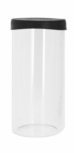 Viva Scandinavia 9102040 Boîte Hermétique à Céréales + Couvercle Silicone/Verre Borosilicate Transparent/Noir 22,2 cm