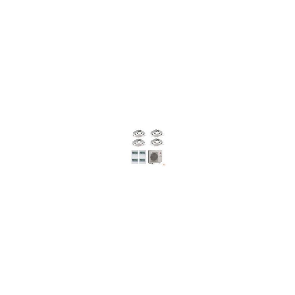 MXZ4B36NA+SLZKA09NAx3+SLZKA12NA Mr. Slim Ceiling Cassette