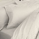 ELAINE KAREN 1500 Thread Count 100% Egyptian STRIPED 4PC QUEEN Sheet Set, IVORY