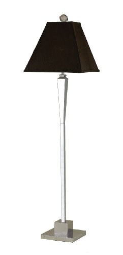 Candice Olson Margo Floor Lamp, Chrome Base with Chocolate Silk Soft Back Shade,  23-Inch by 61-Inch