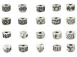 Sale alerts for Buckets of Beads Antique Silver European Style Pack of 10 Assorted European Style Clip Lock Stopper Charm Beads. - Covvet