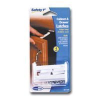 Safety 1st Child Proof Your Cabinets! 4 Cabinet & Drawer Latches - 1