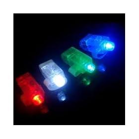 40 Super Bright Finger Flashlights - LED Finger Lamps - Rave Finger Lights
