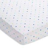 BreathableBaby Wick-Dry Crib Sheet, Blue Mist Dot Fashion, Mini