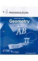 Geometry: Concepts & Skills, Grade 10: Notetaking Guide (Geometry: Concepts and Skills)