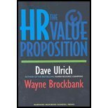 img - for HR Value Proposition (05) by Ulrich, David - Brockbank, Wayne [Hardcover (2005)] book / textbook / text book