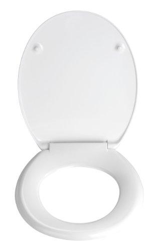 Wenko-19652100-Baroque-Toilet-Seat-Rust-Free-Stainless-Steel-Attachments-Duroplast