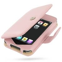 PDAir - iPod Touch Leather Book Case PINK