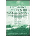 img - for Restorative Justice on the College Campus: Promoting Student Growth and Responsibility, and Reawakening the Spirit of Campus Community [Paperback] [2004] (Author) David R. Karp, Thom Allena book / textbook / text book