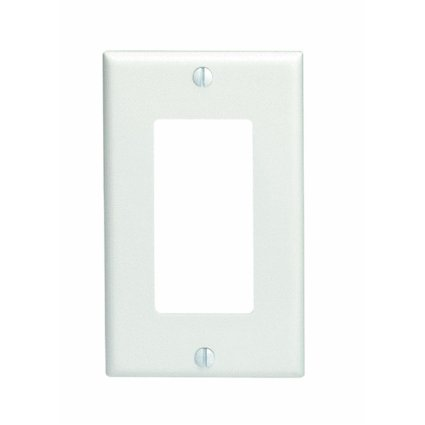 Leviton 80401-Nw 1-Gang Decora/Gfci Device Decora Wallplate, Standard Size, Thermoplastic Nylon, Device Mount, White