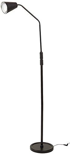 Lavish Home Flexible Adjustable LED Floor Lamp, Black (66