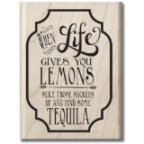 Hampton Art Laugh Out Loud Rubber Stamps, Lemons and Tequila - 1