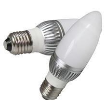 How Nice Led 5W E12 Led Candle Bulb 110V , 45W Incandescent Bulb Equivalent, High End Nicha Led, Cool White -Pack Of 2