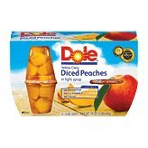 Dole Yellow Cling Diced Peaches in Syrup - 4 oz - 4 ct by Dole