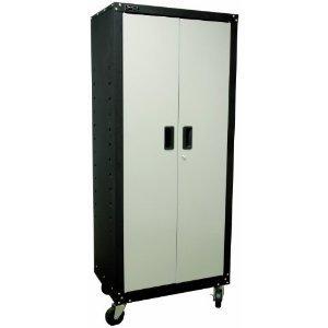 Homak GS00765021 Steel 2 Door Tall Mobile Cabinet with 4 Shelves