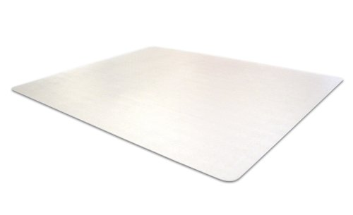 Cleartex UltiMat Polycarbonate Smooth Back Chair Mat for Hard Floors, Clear, 60 x 48 Inches, Rectangular (1215219ER)