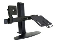 Ergotron Neo-Flex Combo Lift Stand - Stand for LCD display / notebook - black - screen size: up to 20