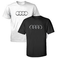 Genuine Audi Men's Rings Tee -BLACK- Size Medium by Audi