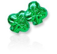 Shamrocks Green Foil Wrapped Chocolates 1 Pound
