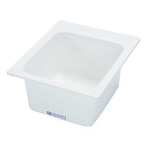 Utility Sink, Fiberglass, 20x17x9 1/2 In