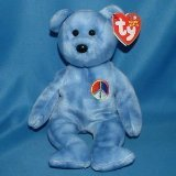 Ty Beanie Baby 2002 Peace Bear Plush