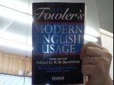 The New Fowler's Modern English Usage