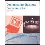 Contemporary Business Communication (Custom)