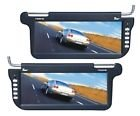 Pair Automotive Black 12.2 Sunvisor Visor Widescreen Lcd Video Monitor Screens