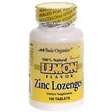 Basic Organics Zinc Lozenges Lemon 100