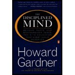 img - for Disciplined Mind (00) by Gardner, Howard [Paperback (2000)] book / textbook / text book