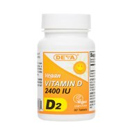 Deva Nutrition Vegan D2 Vitamin D 2400 Iu - 90 Tablets, Pack Of 2