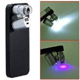 Neewer 60X Zoom LED Cell Phone Mobile Phone Microscope Micro Lens for Apple iPhone 5 5S