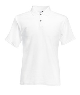 Mens FOTL Screen Stars Original Polo T Shirt-White-Small-FREE SHIPPING