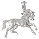 CleverEve 14K White Gold Pendant Horse 6.9 Grams