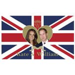 Prince William and Kate Middleton Royal Wedding 5'x3' Flag