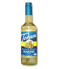 Torani Sugar Free Almond Syrup (1 Single 750 Ml Bottle)