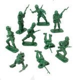 DELUXE BAG OF CLASSIC TOY GREEN ARMY SOLDIERS - 36 Pc. - 1