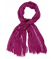 Autograph Lightweight Wool Rich Scarf with Silk