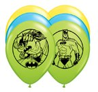 "PIONEER BALLOON COMPANY 25 Count Assorted Batman Latex Balloon, 11"" - 1"