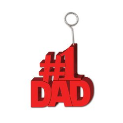#1 Dad Photo/Balloon Holder Party Accessory (1 count) by The Beistle Company
