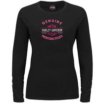 Harley-Davidson Womens Forward Control Black Long Sleeve T-Shirt
