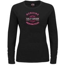 Harley-Davidson Womens Forward Control Black Long Sleeve T-Shirt