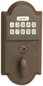 Emtek Products Bronze Electronic Keypad Deadbolt Lockset (E1001)