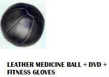 Medicine Ball Leather 10kg + Medicine Ball Workout DVD + Fitness Gloves [Misc.]