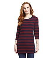 M&S Collection Ribbed Panel Striped Tunic
